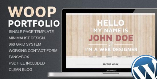 Single Page WordPress Themes