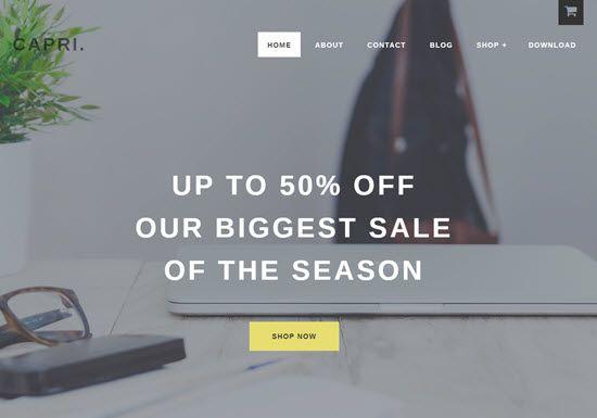 Capri Pro WordPress WooCommerce Themes