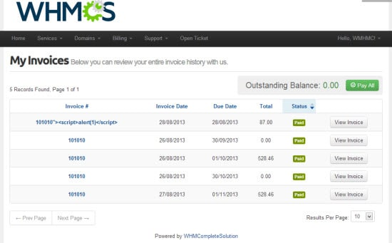 WHMCS a Client Management and Billing Software