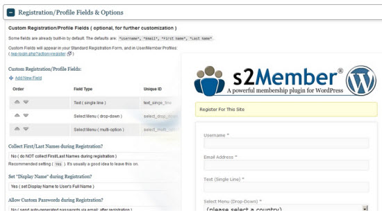 S2Member WordPress Membership Plugin