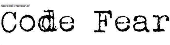 Typewriter Fonts