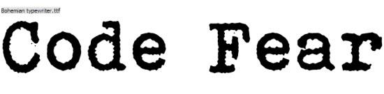 30 Free Classic Typewriter Fonts - CodeFear com