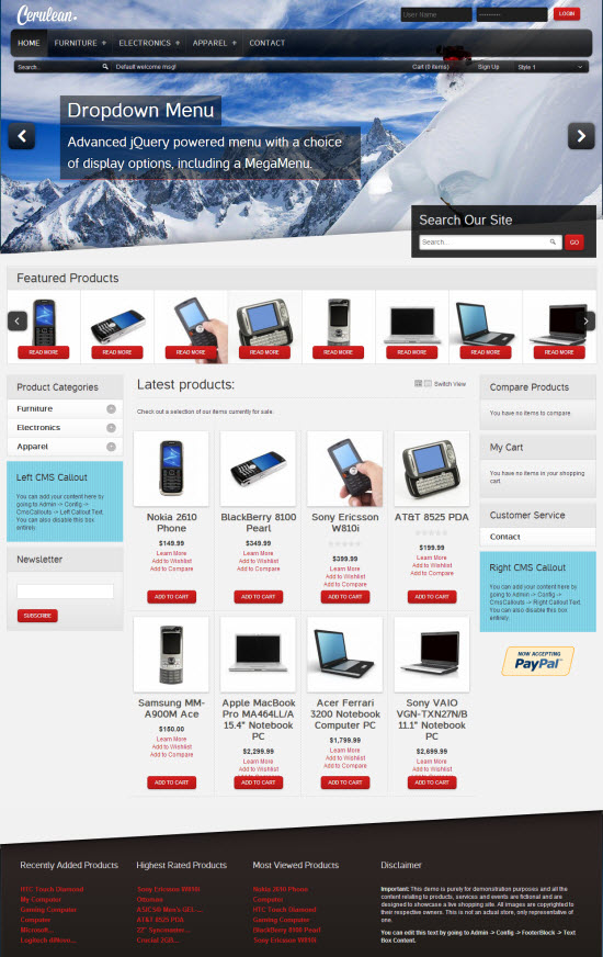 Cerulean Responsive Magento Template