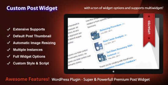 WordPress Recent Post Widgets