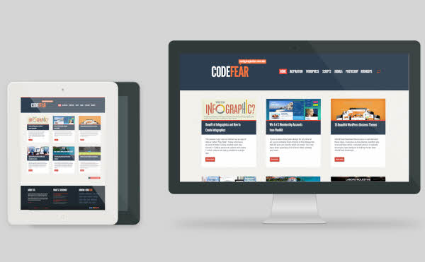 Free Responsive HTML Template CodeFear