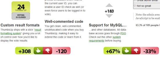ThumbsUp PHP Voting Script