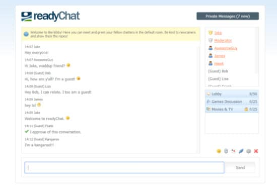 PHP Chat Script readyChat