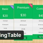 5 Free WordPress Pricing Table Plugins