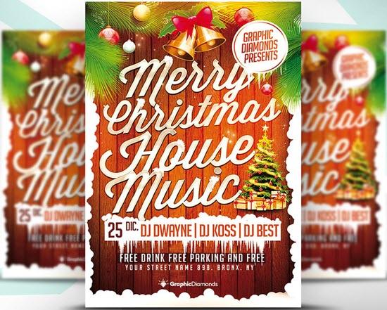 Christmas House Music Flyer