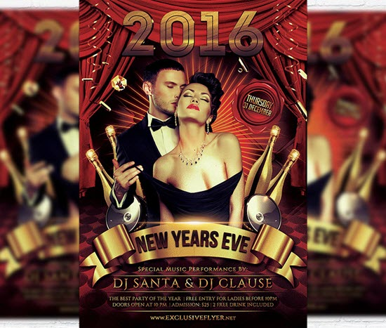 New Year's Eve Party Flyer Designs