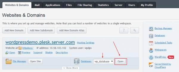 Server backups or cPanel