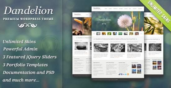 Dandelion - Powerful Elegant WordPress Theme