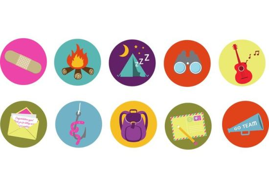 Brand Camp Badge Vector Icons