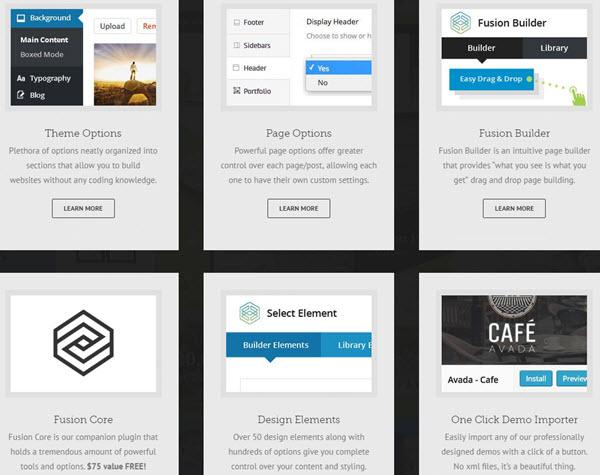 Avada WordPress Theme Features