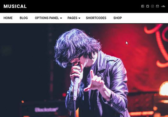 Musical Free WordPress Themes