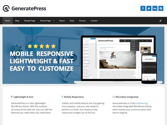 GeneratePress Free WordPress Themes