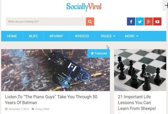 SociallyViral Free WordPress Themes
