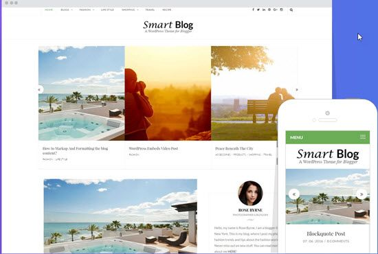 Smart Blog Free WordPress Themes