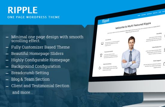 Ripple Free WordPress Themes