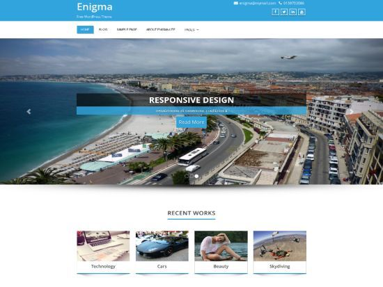 Enigma Free WordPress Themes