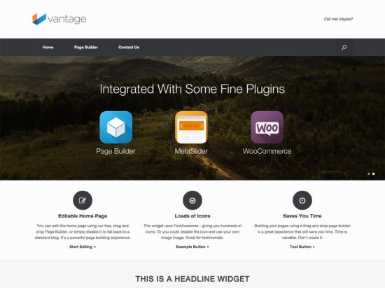 Vantage Free WordPress Themes