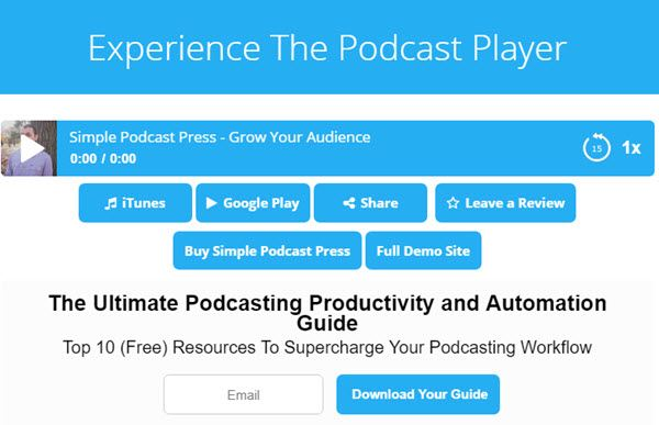 Simple Podcast Press WordPress Podcast Plugins