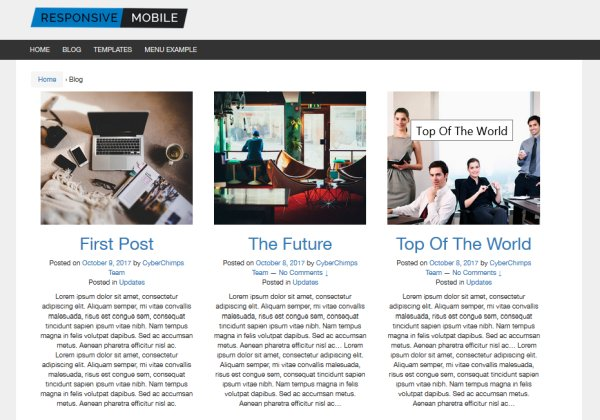 Grid Layout For Blog Posts
