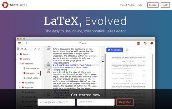 ShareLaTeX LaTeX Editors