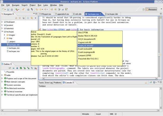 TeXlipse LaTeX Editors