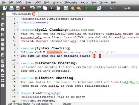 TeXstudio LaTeX Editors