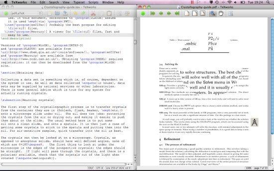 TeXworks LaTeX Editors