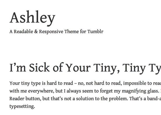 Ashley Free Tumblr Themes
