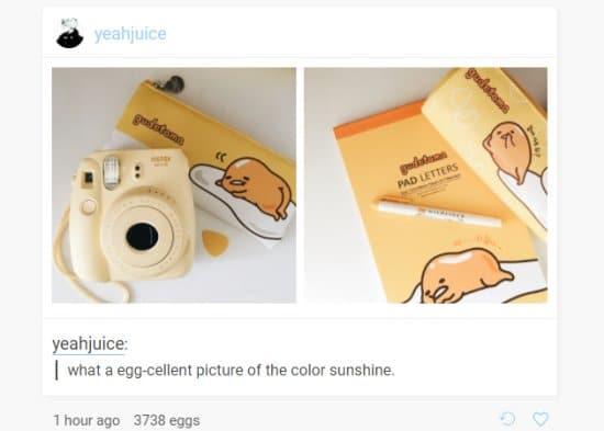 Egg Free Tumblr Theme