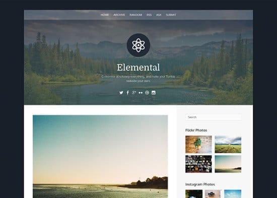 Elemental Free Tumblr Themes