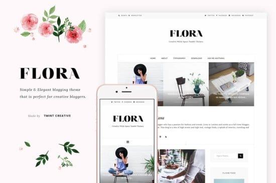 Flora Free Tumblr Theme