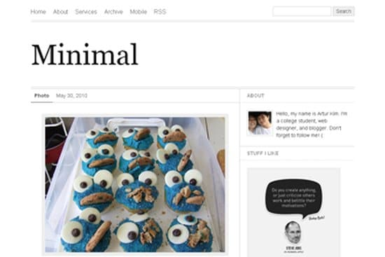 Minimal Free Tumblr Themes