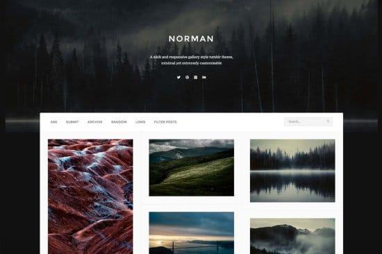 Norman Free Tumblr Theme
