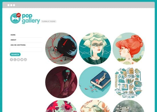 Pop Gallery Free Tumblr Themes