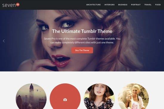 Seven Pro Free Tumblr Themes