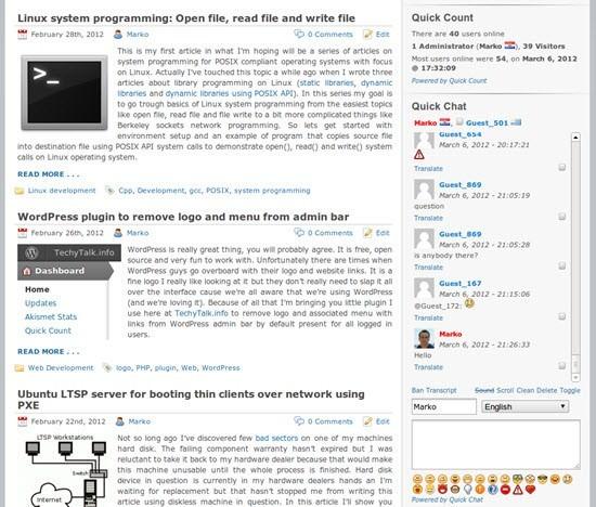 Quick Chat WordPress live chat plugins