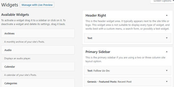 WordPress Widgets