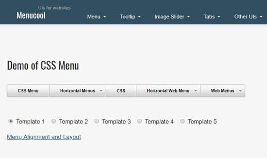MenuCool CSS Menu Generator