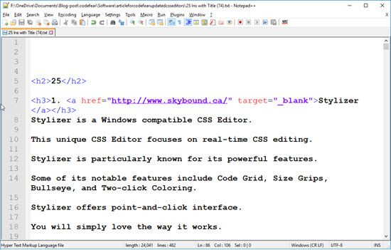 12 Best CSS Editor for Windows, Mac & Linux - CodeFear