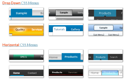 5 place to build beautiful css menu for Attractive table css