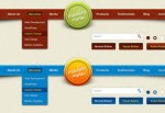 25 Beautiful Web Menu Navigation PSD