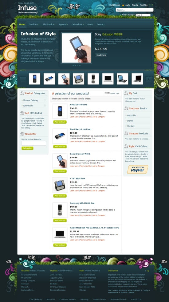 Infuse Magento Template